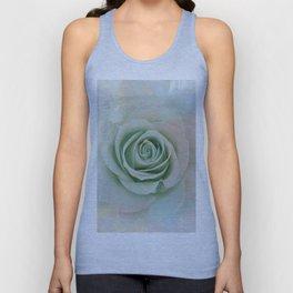 Elegant Painterly Mint Green Rose Abstract Unisex Tank Top