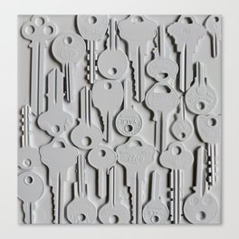 White keys Canvas Print