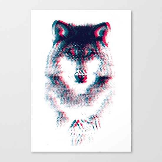 Act like a wolf. Canvas Print