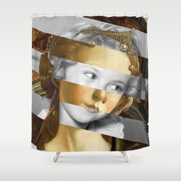 Sandro Botticelli's Fortitude & Shirley T. Shower Curtain