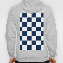 Large Checkered - White and Oxford Blue Hoody
