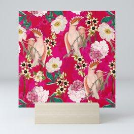 Vintage & Shabby Chic - Tropical Bird Flower Garden Mini Art Print