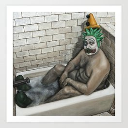 The Bathing Clown Art Print