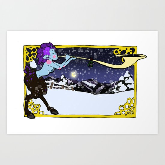 Winter Faun Art Print
