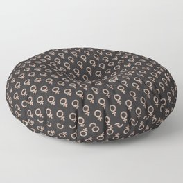 Fearless Female Black Floor Pillow