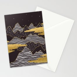 Gold Mountain Peaks Stationery Cards