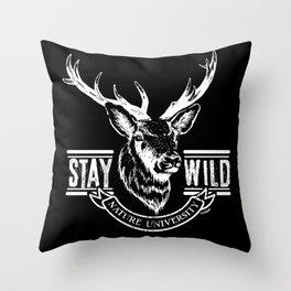 Reindeer stay wild II Throw Pillow