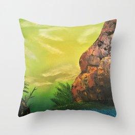 Standing strong - proud rock Throw Pillow