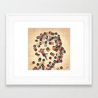 vinyl Framed Art Prints featuring Vinyl by Davide Bonazzi