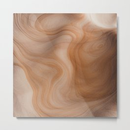 Abstract Cave Pattern  Metal Print