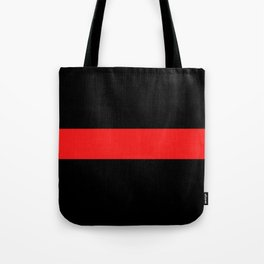 Firefighter: The Thin Red Line Tote Bag