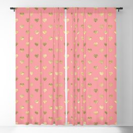 Heart of gold pink lips Blackout Curtain