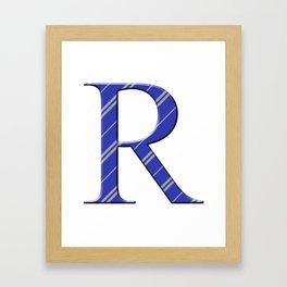 R for Ravenclaw Framed Art Print