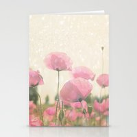 poppies Stationery Cards featuring POPPIES by Monika Strigel