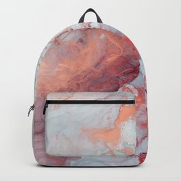 PInk and blue marble design Backpack