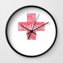 Paramedic Saving Lives Everyday EMT EMS Distressed Wall Clock