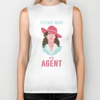 agent carter Biker Tanks featuring It's Agent by Courtney Yu