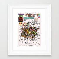 ghost busters Framed Art Prints featuring Busters from Babylon by Jack Coltman