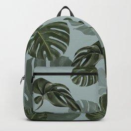 Monstera Urban Jungle pattern Backpack