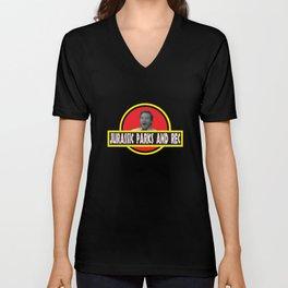 Jurassic Parks And Rec Unisex V-Neck