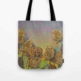 Harvest Mouse and Teasels Tote Bag