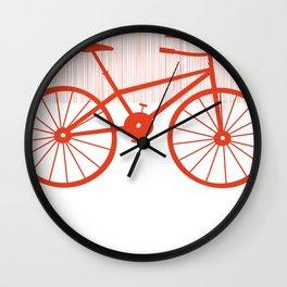 Red Bike by Friztin Wall Clock