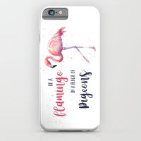 Be a Flamingo in a Flock of Pigeons Watercolor Pink Flamingo Slim Case iPhone 6s