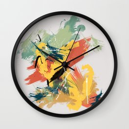 Intuitive Conversations, Abstract Mid Century Colors Wall Clock
