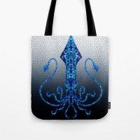 squid Tote Bags featuring Squid by Bahadır Tez