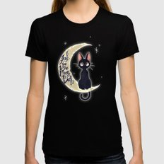 I Love You To The Moon & Back Womens Fitted Tee LARGE Black