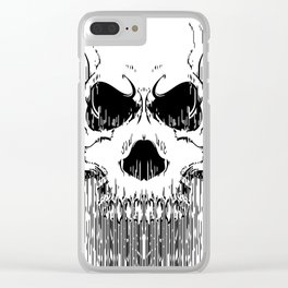 FULL FACE SKULL Clear iPhone Case