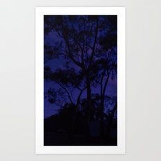 Spooky Trees Art Print
