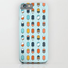 Popsicles blue background iPhone Case