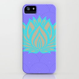 Lotus blue /mint Meditation Through Pillow iPhone Case