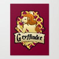 gryffindor Canvas Prints featuring Gryffindor Crest by AriesNamarie
