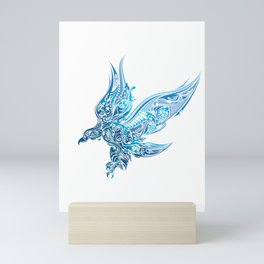 Artistic Eagle Soaring Wings Ornate Prismatic Art Mini Art Print