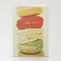 macaron Stationery Cards featuring Macaron Stack by Kya Owl