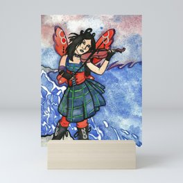 She Plays For The Waves Mini Art Print
