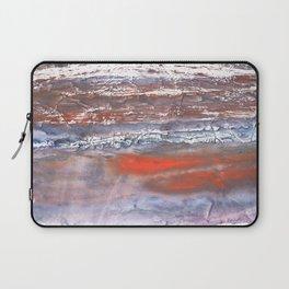 Blue orange marble wash drawing texture Laptop Sleeve