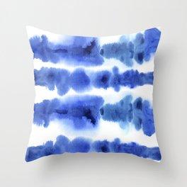 Indigo Watercolor Pattern 13 Throw Pillow