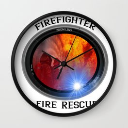 Firefighter rescue Wall Clock