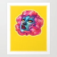 bubblegum Art Prints featuring Bubblegum by Edge