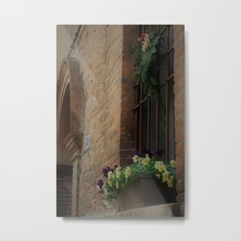 Christmas Window Ferrara Italy Metal Print