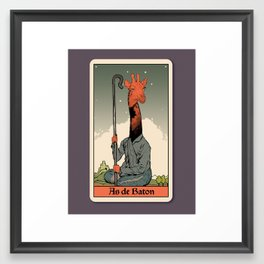 The Ace of Wands Framed Art Print