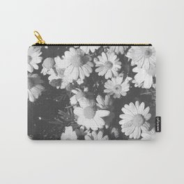Black and White Flowers Carry-All Pouch