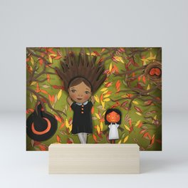 Little Fall Witch Mini Art Print