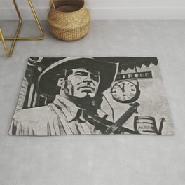 Tex Willer Artistic Illustration Guernica Style Rug