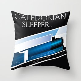 Caledonian Sleeper London Scotland Throw Pillow