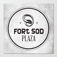 Fort Sod Plaza Canvas Print