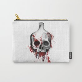 Alcohol bottle in death skull. Carry-All Pouch